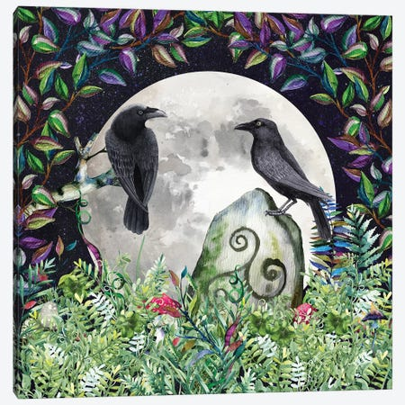 Raven Night Moon Magick Canvas Print #MGK110} by Nature Magick Canvas Art