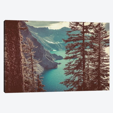 Retro Crater Lake Oregon, Pacific Northwest Canvas Print #MGK111} by Nature Magick Canvas Art