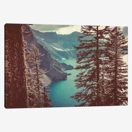 Retro Crater Lake Oregon, Pacific Northwest Canvas Print #MGK111} by Nature Magick Canvas Art