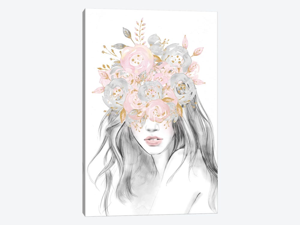 Rose Gold Flower Girl by Nature Magick 1-piece Canvas Art