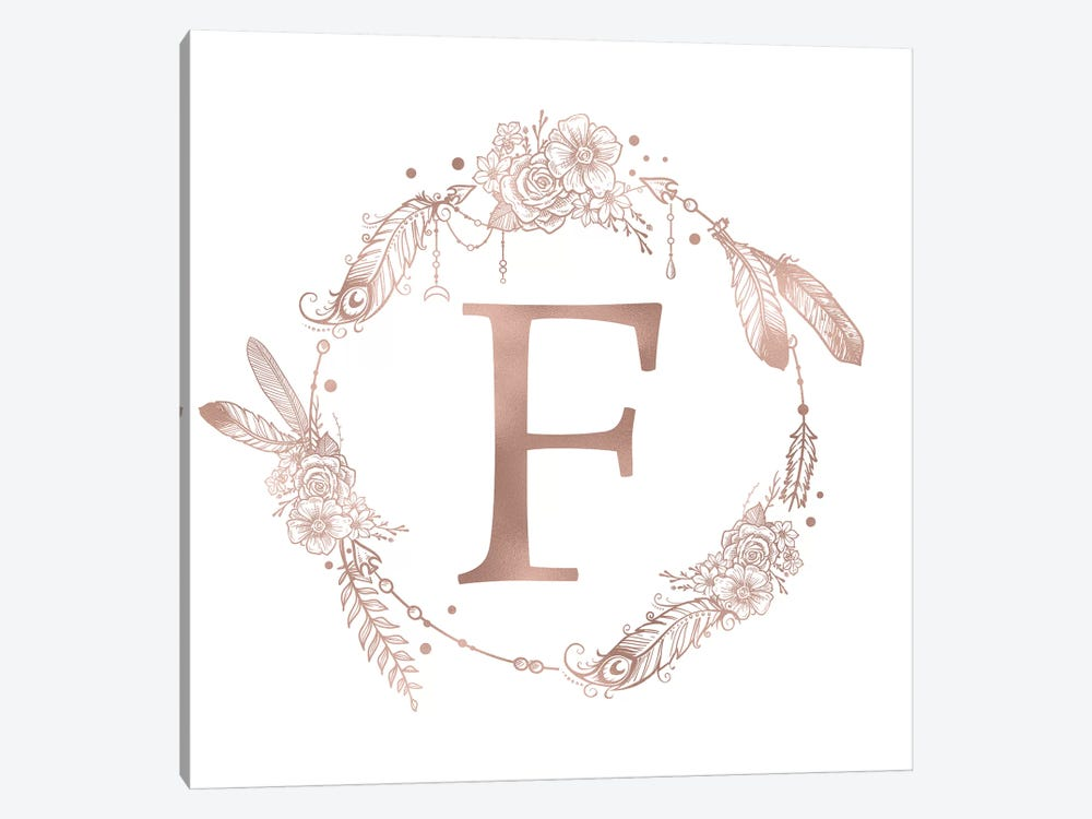 The Letter F by Nature Magick 1-piece Canvas Wall Art