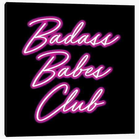 Badass Babes Club II Canvas Print #MGK11} by Nature Magick Art Print
