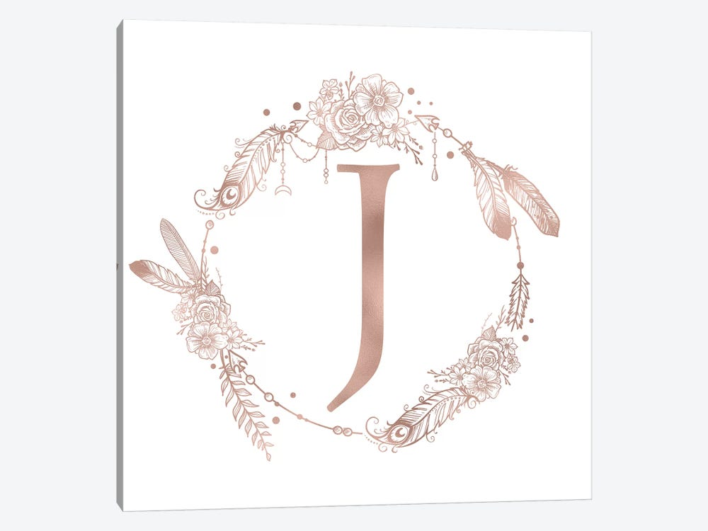 The Letter J by Nature Magick 1-piece Canvas Art Print