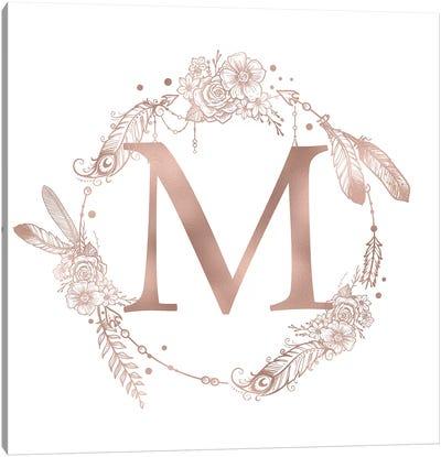 The Letter M Canvas Art Print