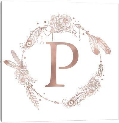 The Letter P Canvas Art Print