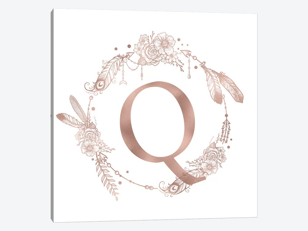 The Letter Q by Nature Magick 1-piece Canvas Art