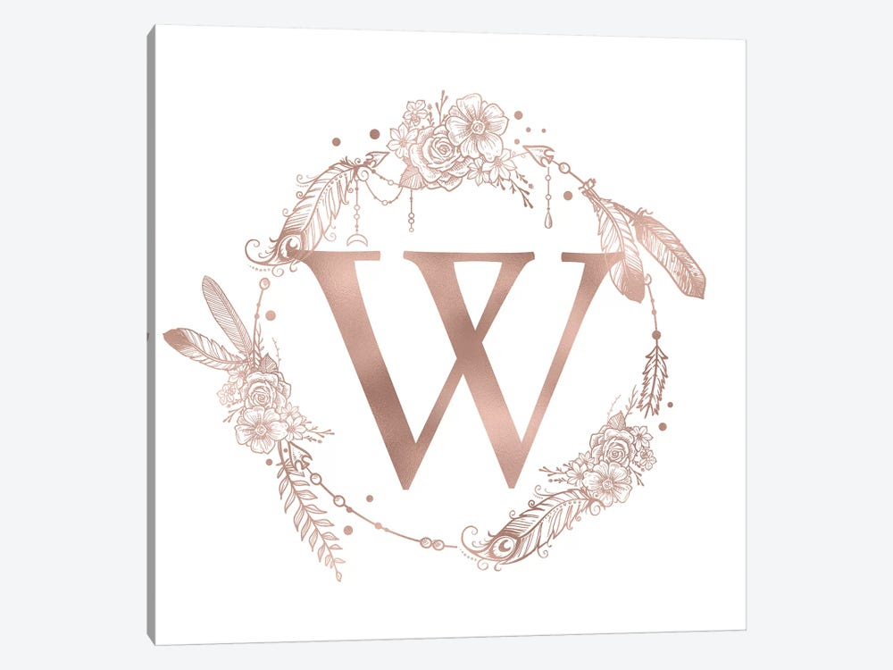 The Letter W by Nature Magick 1-piece Canvas Art Print