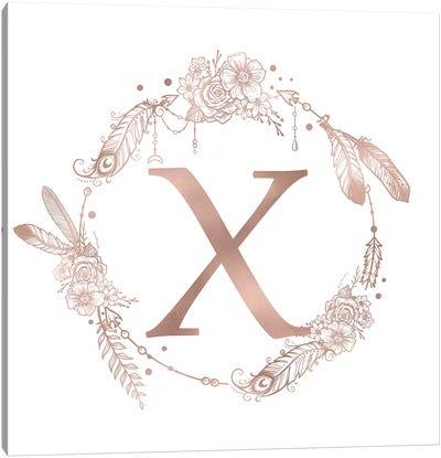The Letter X Canvas Art Print