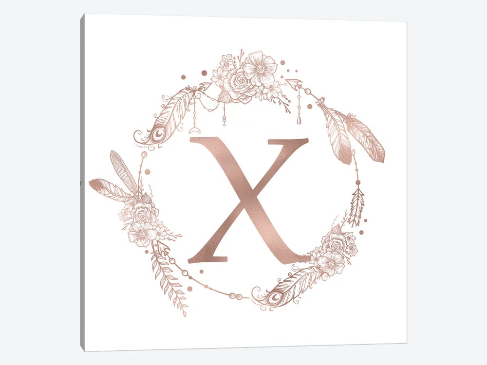 The Letter X by Nature Magick 1-piece Canvas Wall Art