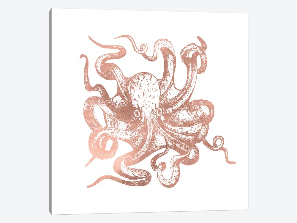 Rose Gold Octopus by Nature Magick 1-piece Canvas Print