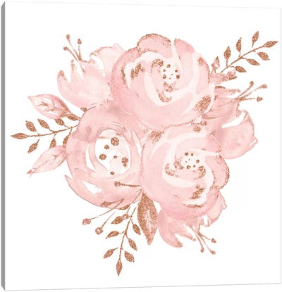 Roses Rose Gold Canvas Art Print