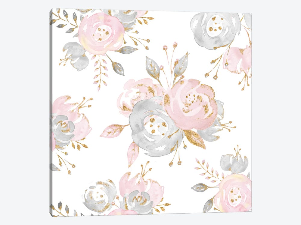 Roses Rose Gold II by Nature Magick 1-piece Canvas Wall Art