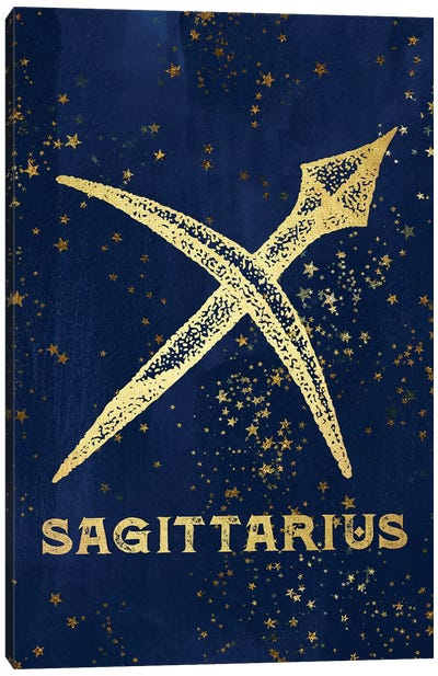 Sagittarius Zodiac Sign Canvas Art Print