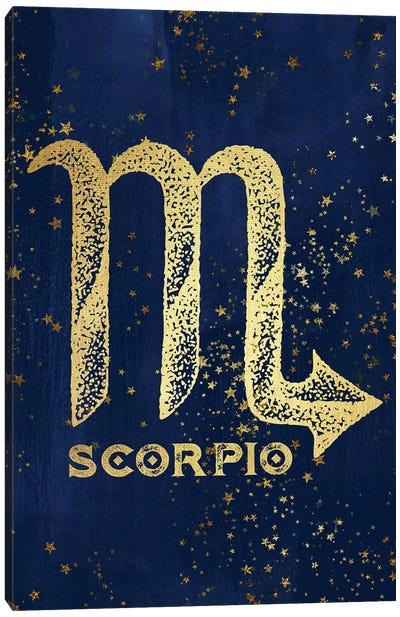 Scorpio Zodiac Sign Canvas Art Print