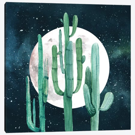 Southwestern Green Cactus Trio I Canvas Print #MGK147} by Nature Magick Canvas Wall Art