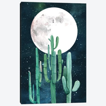 Southwestern Green Cactus Trio II Canvas Print #MGK148} by Nature Magick Art Print