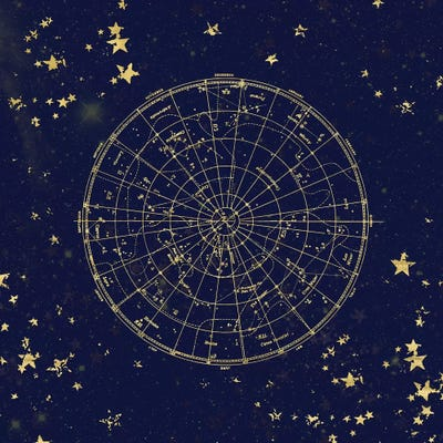 Star Map Art.Star Map Night Sky Ii Canvas Artwork By Nature Magick Icanvas