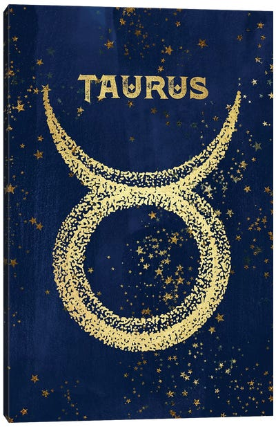 Taurus Zodiac Sign Canvas Art Print