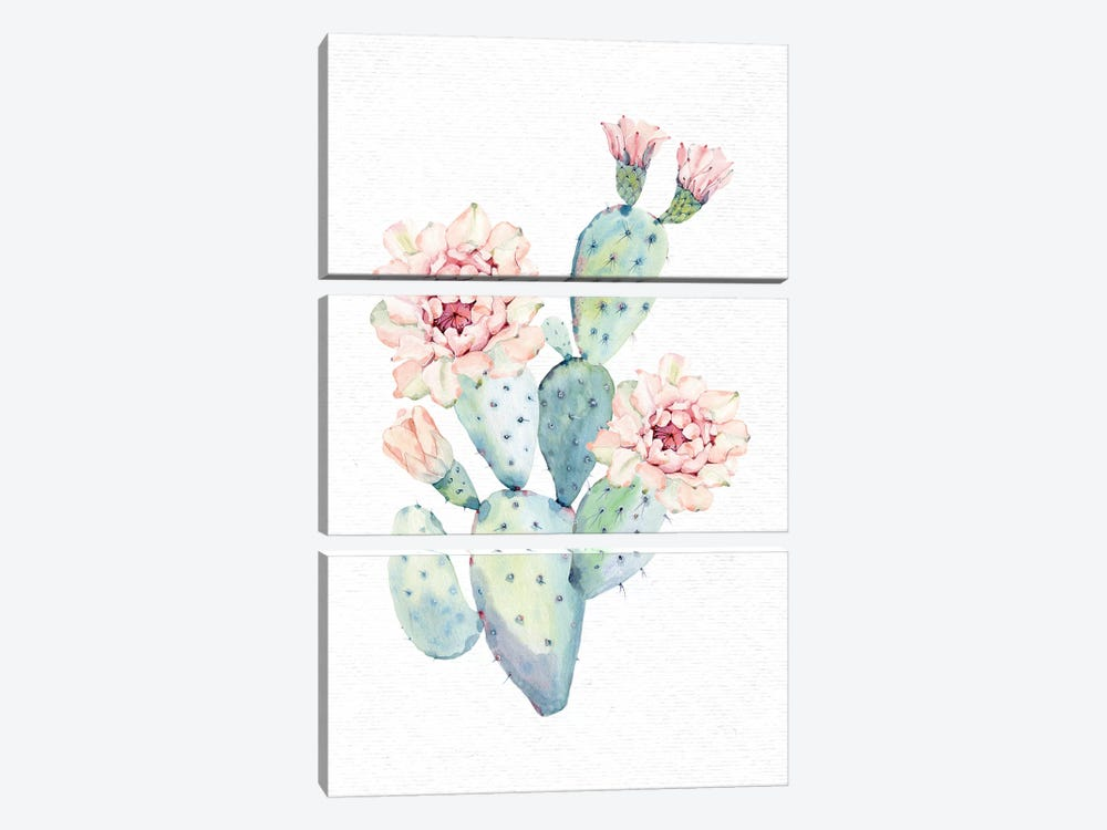 The Prettiest Cactus by Nature Magick 3-piece Canvas Art