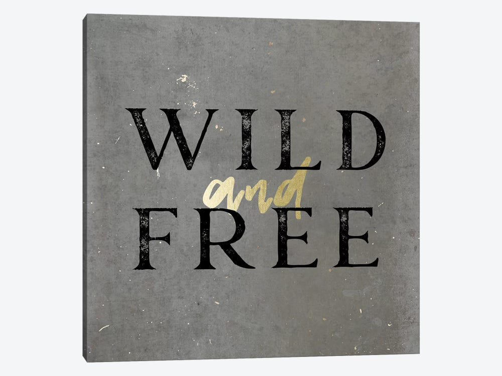 Wild And Free Gold by Nature Magick 1-piece Canvas Artwork