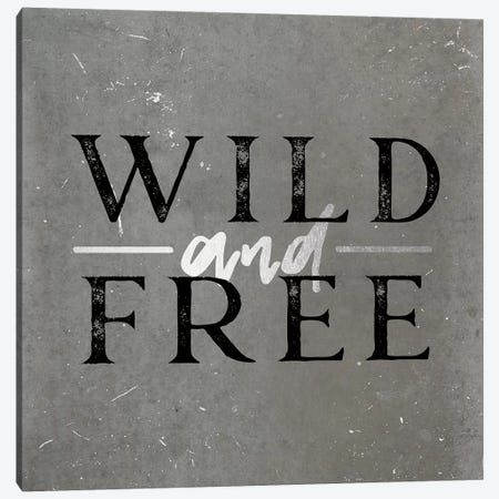 Wild And Free Silver Canvas Print #MGK184} by Nature Magick Canvas Art