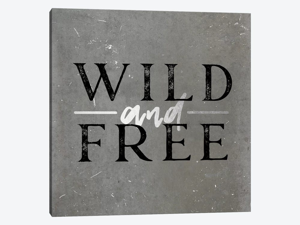 Wild And Free Silver by Nature Magick 1-piece Canvas Print