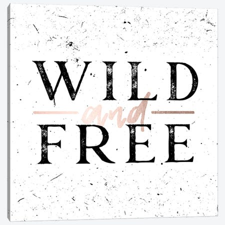 Wild And Free Rose Gold Canvas Print #MGK185} by Nature Magick Canvas Wall Art