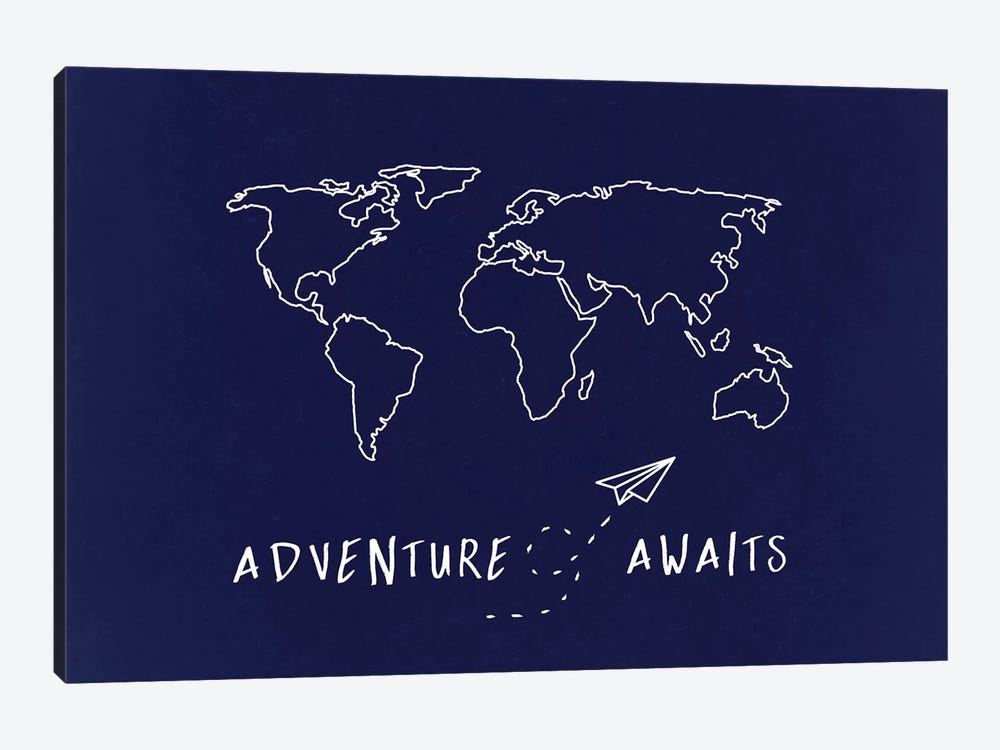 World Map Adventure Awaits by Nature Magick 1-piece Art Print