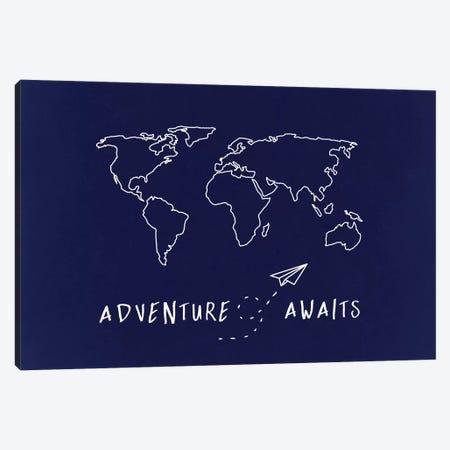World Map Adventure Awaits Canvas Print #MGK186} by Nature Magick Canvas Art