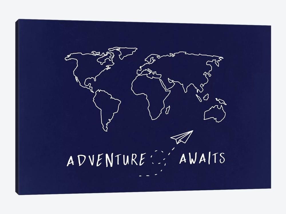 World Map Adventure Awaits by Nature Magick 1-piece Art Print