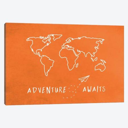 World Map Adventure Awaits II Canvas Print #MGK187} by Nature Magick Canvas Art