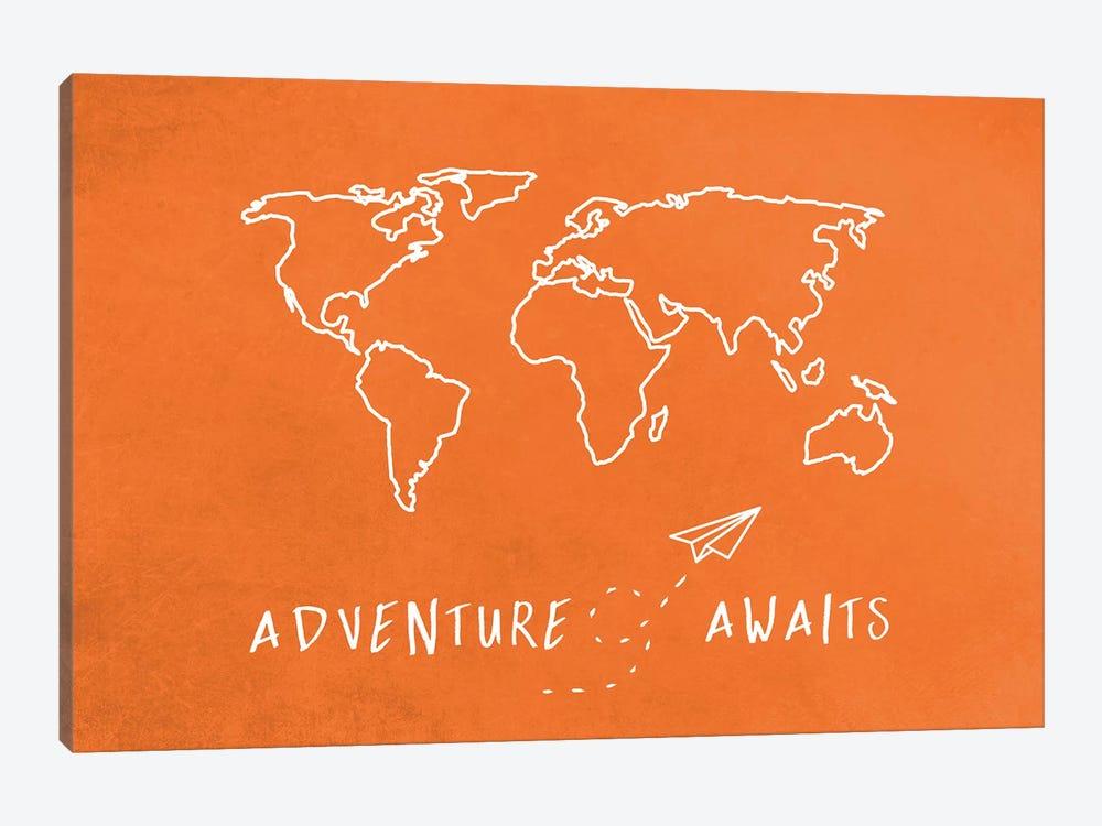 World Map Adventure Awaits II by Nature Magick 1-piece Canvas Wall Art