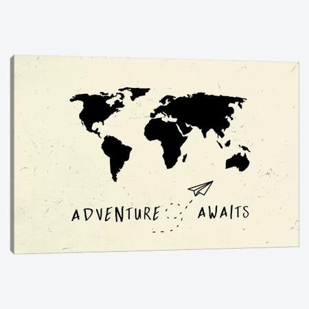 World Map Adventure Awaits III Canvas Print #MGK188} by Nature Magick Canvas Art Print