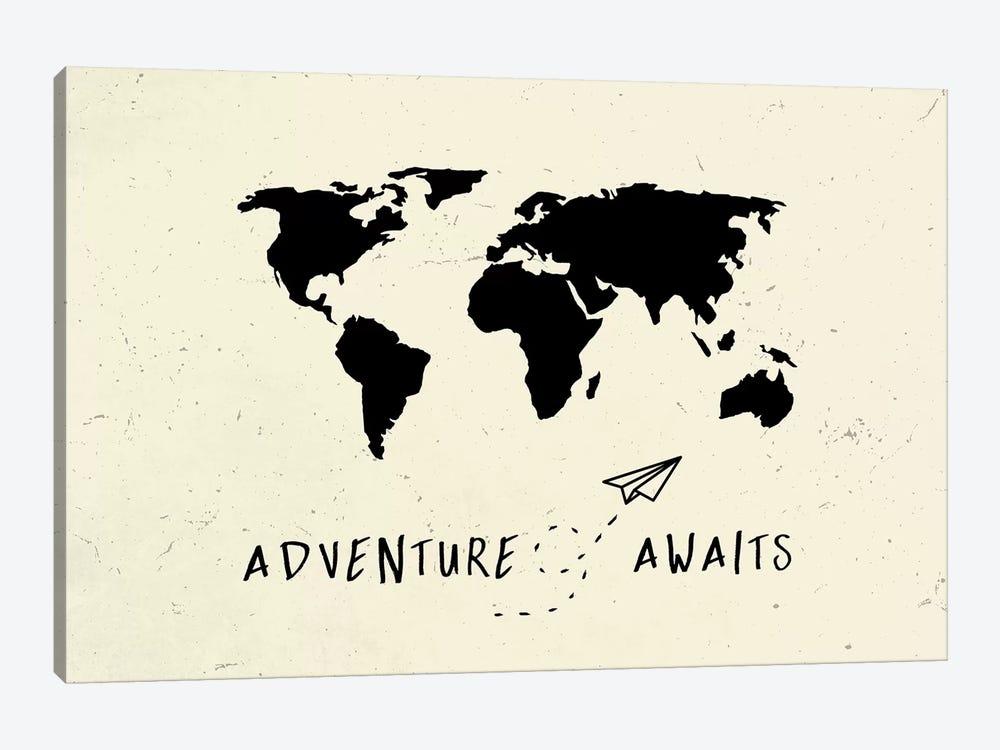 World Map Adventure Awaits III by Nature Magick 1-piece Canvas Art Print