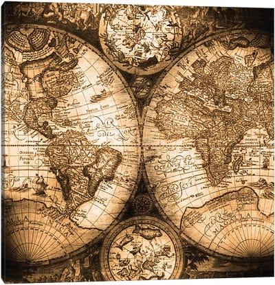 World Map Antique Canvas Art Print