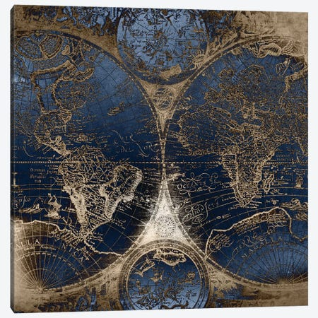 World Map Antique II Canvas Print #MGK190} by Nature Magick Canvas Art