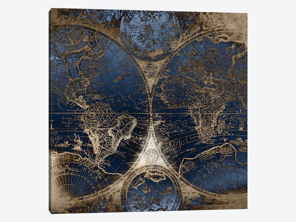World Map Antique II by Nature Magick 1-piece Canvas Wall Art