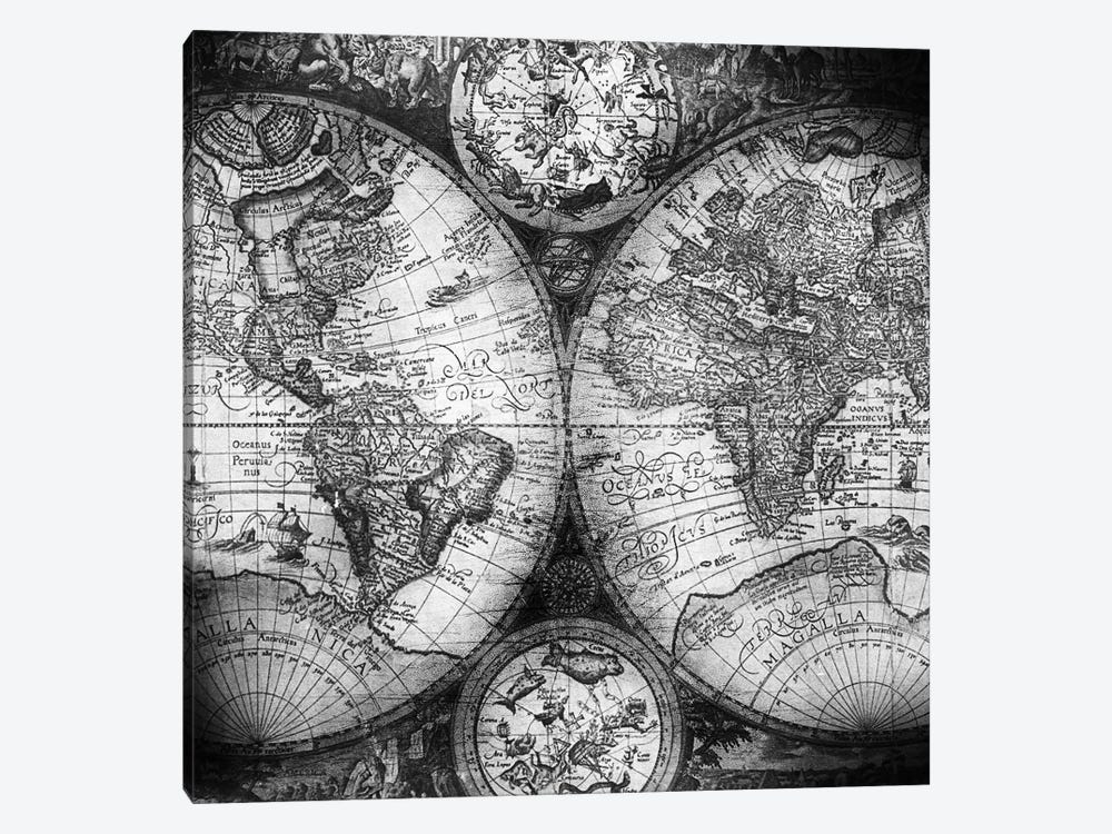 World Map Antique III by Nature Magick 1-piece Canvas Art Print