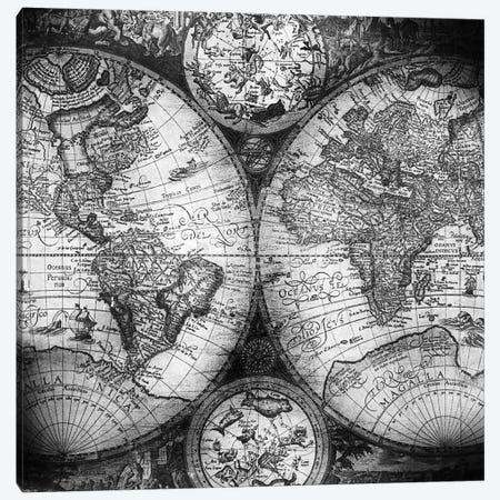 World Map Antique III Canvas Print #MGK191} by Nature Magick Canvas Wall Art