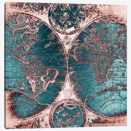 World Map Antique IIII Canvas Print #MGK192} by Nature Magick Canvas Art