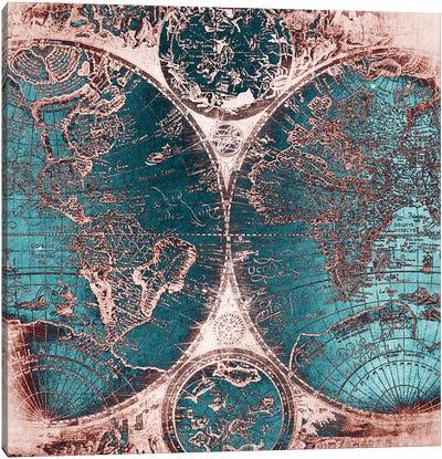 World Map Antique IIII Canvas Art Print
