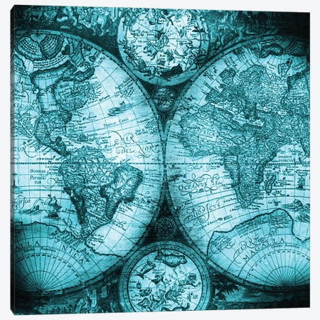 World Map Antique V Canvas Print #MGK193} by Nature Magick Canvas Wall Art