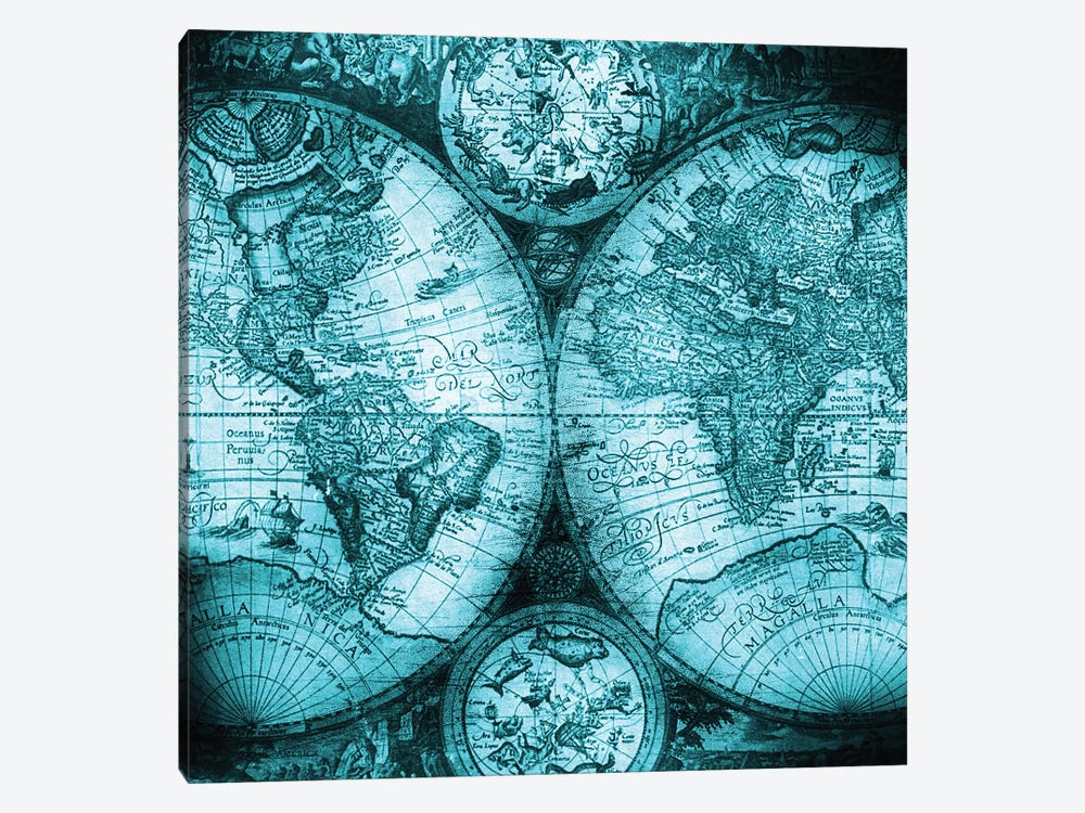 World Map Antique V by Nature Magick 1-piece Canvas Print