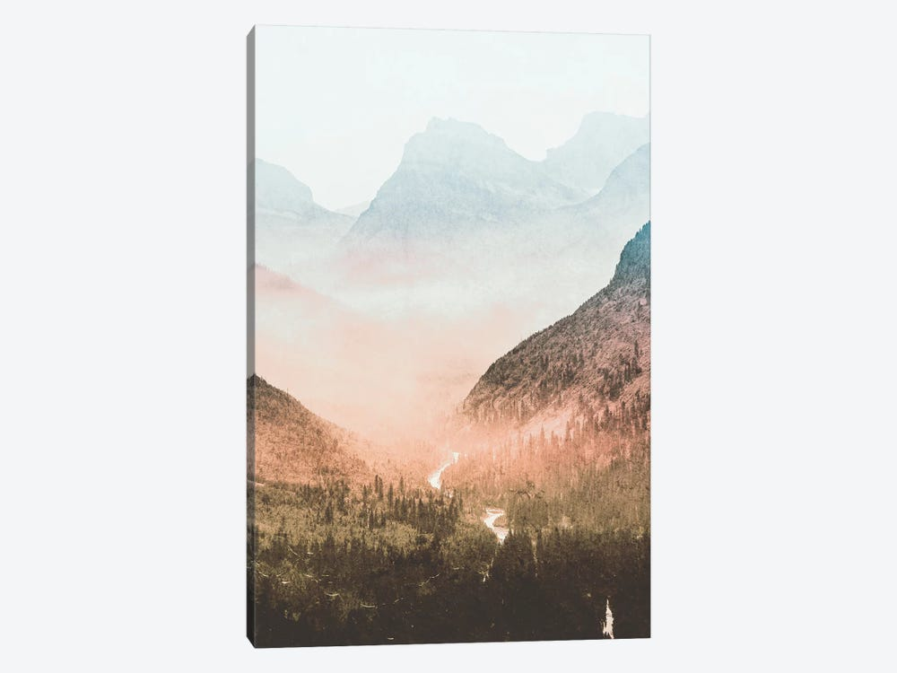 Blue Sunrise Mountain Adventure At Glacier National Park II by Nature Magick 1-piece Canvas Wall Art
