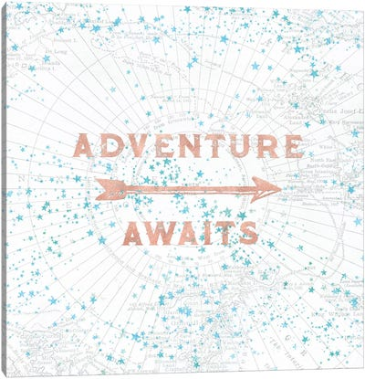 Adventure Awaits In Rose Gold Canvas Art Print
