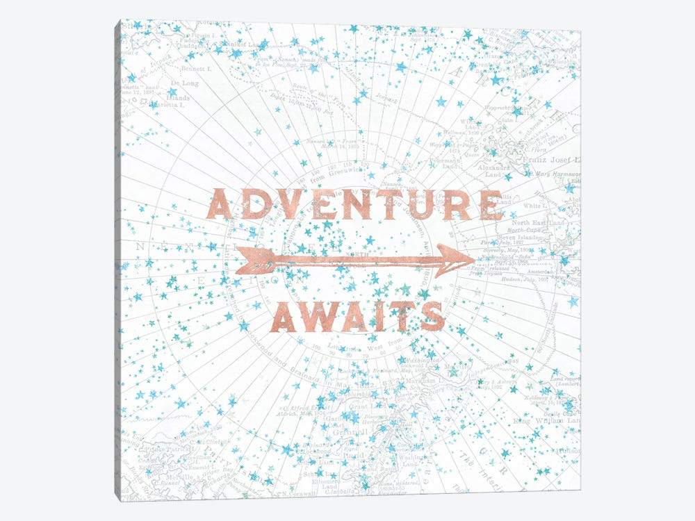 Adventure Awaits In Rose Gold 1-piece Art Print