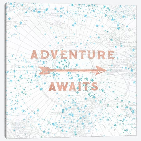 Adventure Awaits In Rose Gold 3-Piece Canvas #MGK1} by Nature Magick Canvas Wall Art