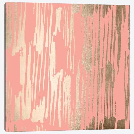 Abstract Modern Gold Brush on Blush Pink Canvas Print #MGK204} by Nature Magick Art Print