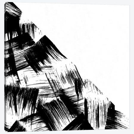 Abstract Modern Minimal Brush Stroke Black and White Canvas Print #MGK205} by Nature Magick Canvas Print
