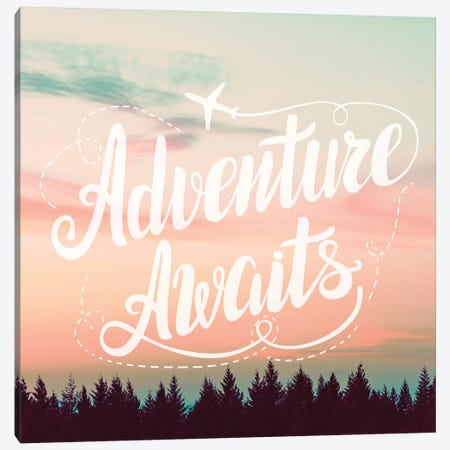 Adventure Awaits In Forest Sunset Canvas Print #MGK212} by Nature Magick Canvas Print